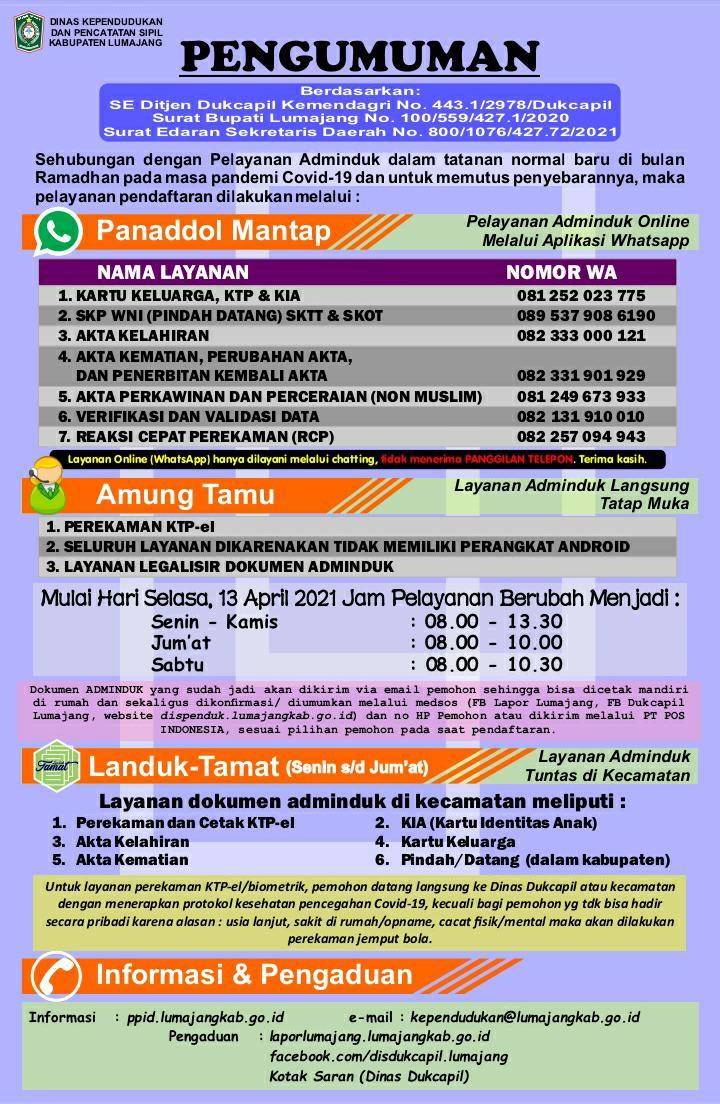 PANADDOL MANTAP SELAMA BULAN RAMADHAN 1442 H/2021 M