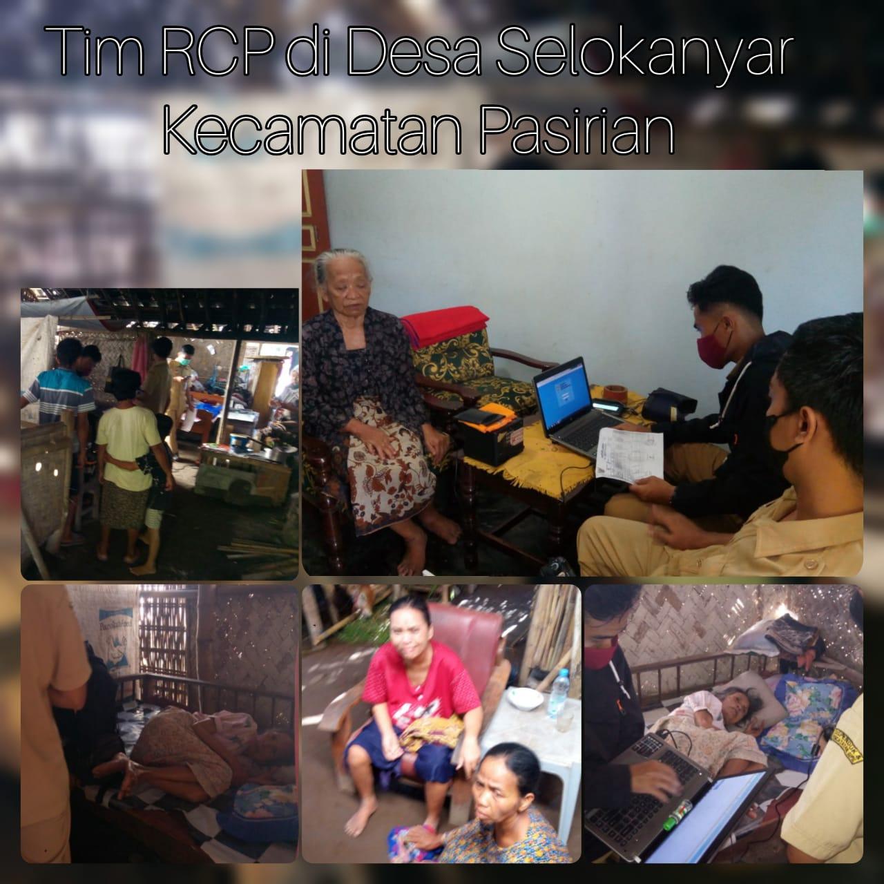 Perekaman E-KTP Lansia oleh Tim RCP di Desa Selokanyar Kecamatan Pasirian