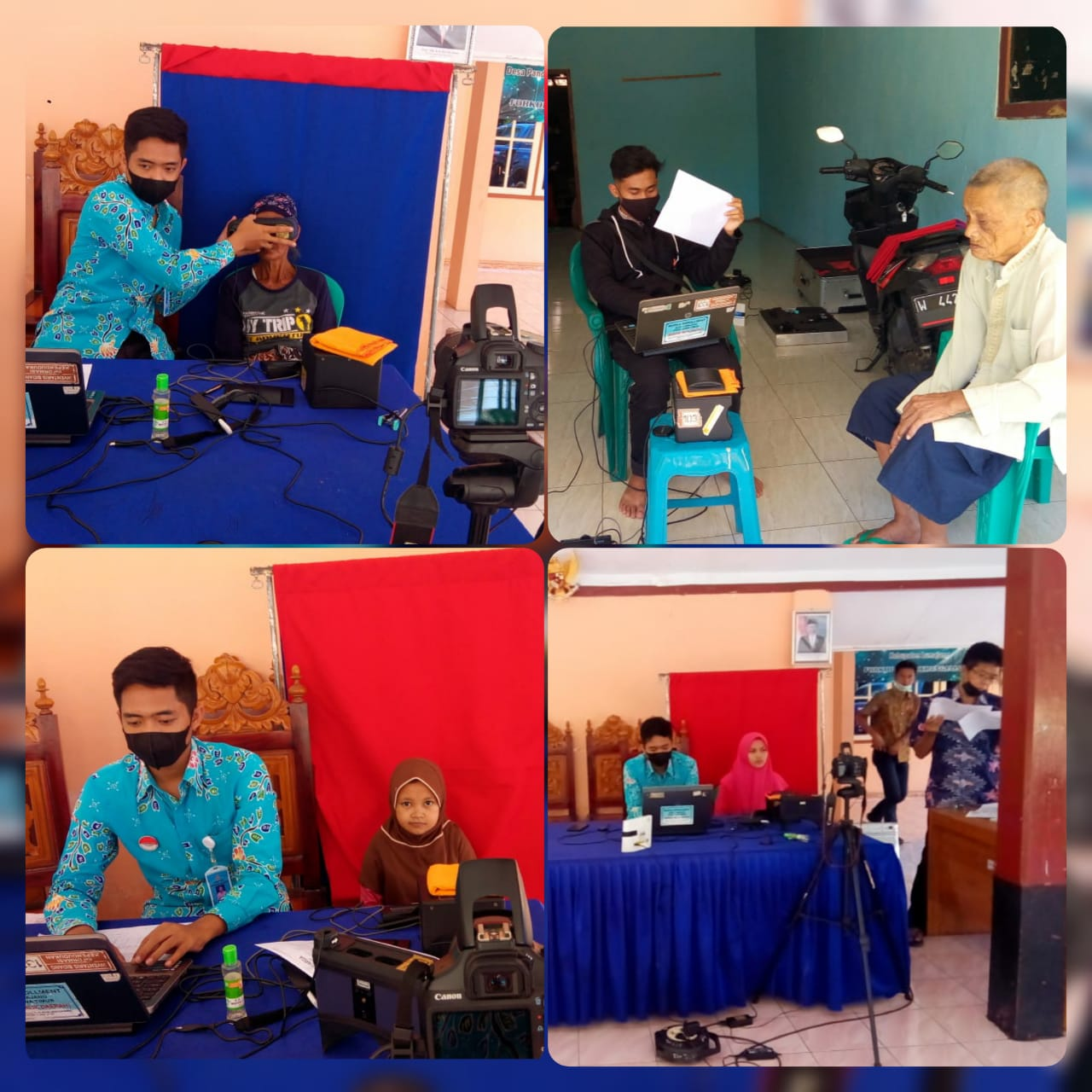 Perekaman E-KTP oleh Tim RCP di Desa Madurejo Kecamatan Pasirian